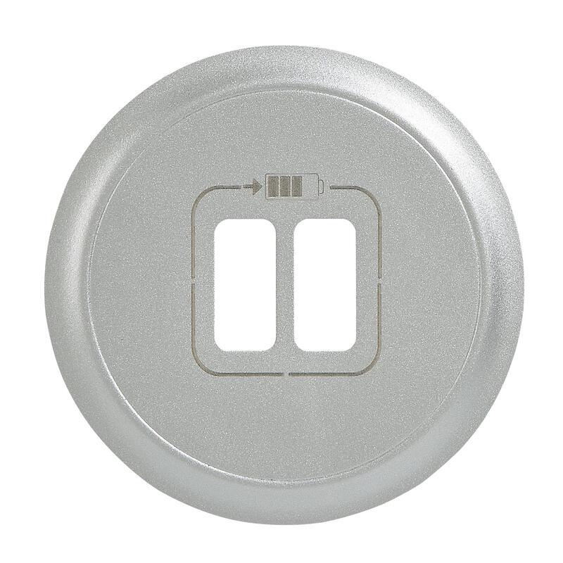 Enjoliveur Céliane pour chargeur double USB Type-A et Type-C - finition titane