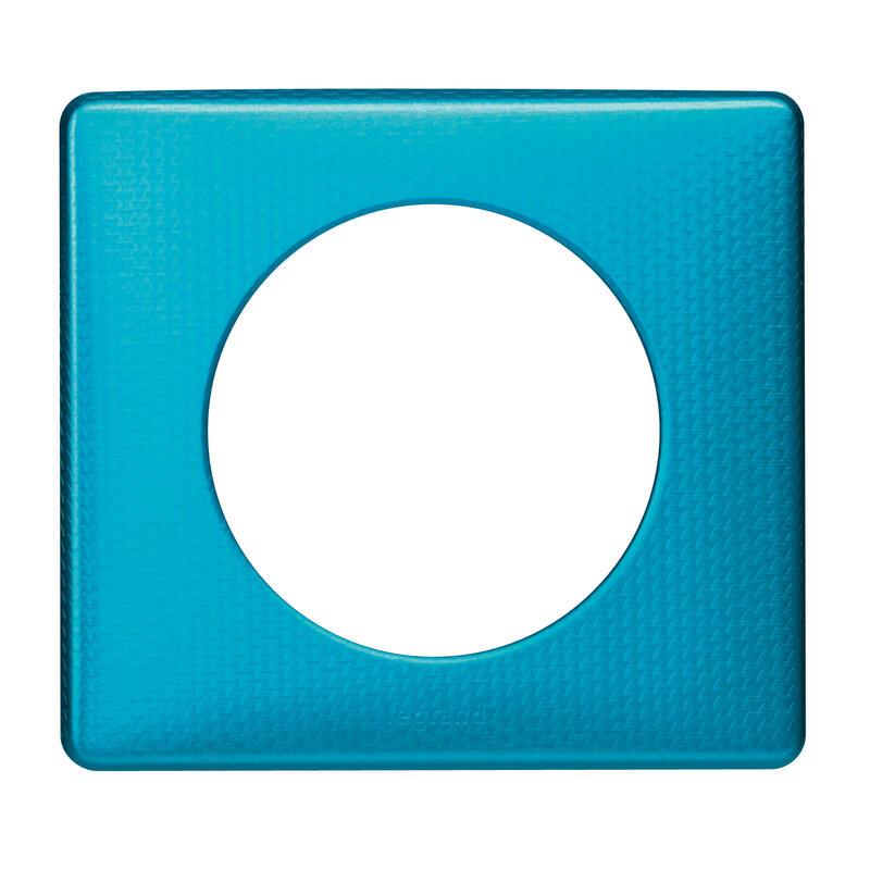 Plaque Céliane Métal 1 poste - finition Blue Snake