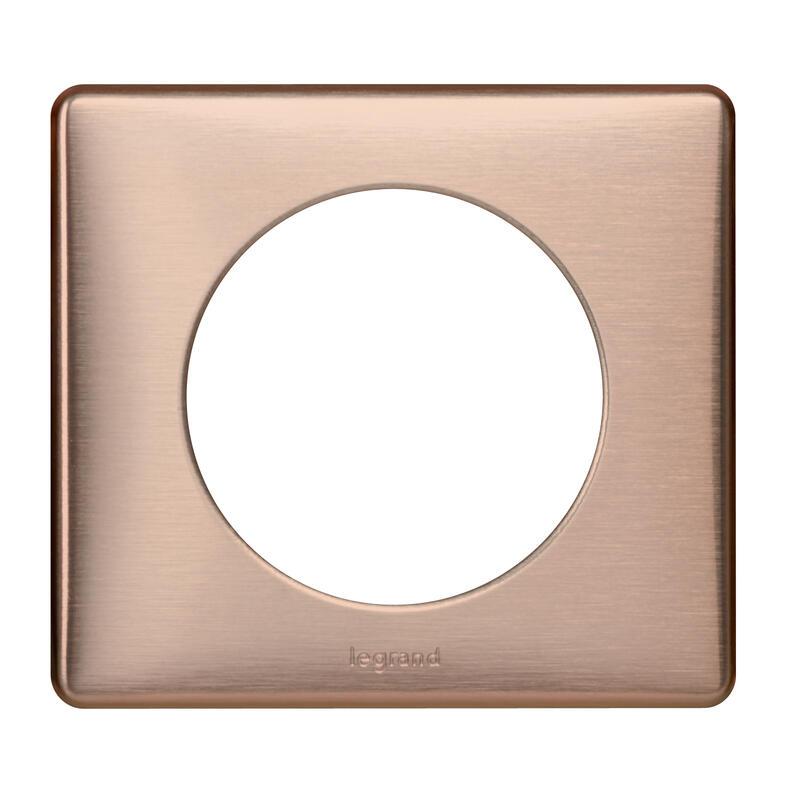 Plaque Céliane Métal 1 poste - finition Copper