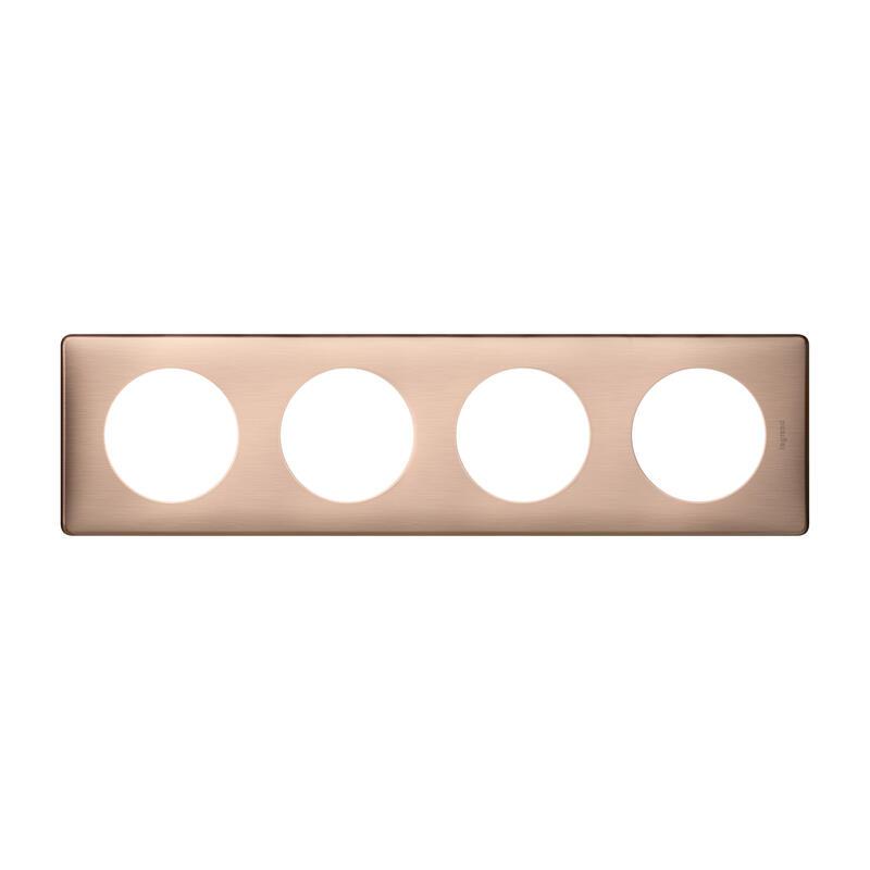 Plaque de finition Céliane - Métal Copper - 4 postes