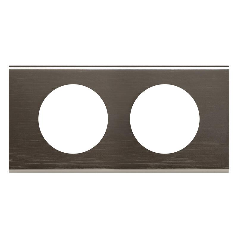 Plaque de finition Céliane - Matière Black Nickel - 2 postes