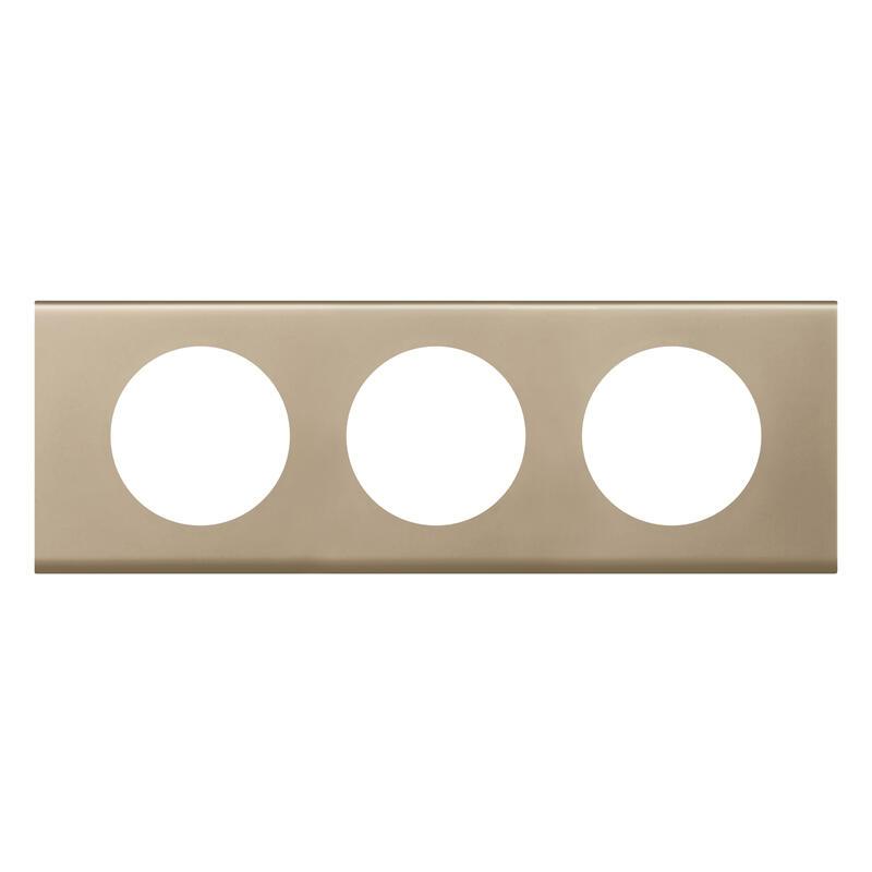 Plaque de finition Céliane - Matière Nickel Velours - 3 postes