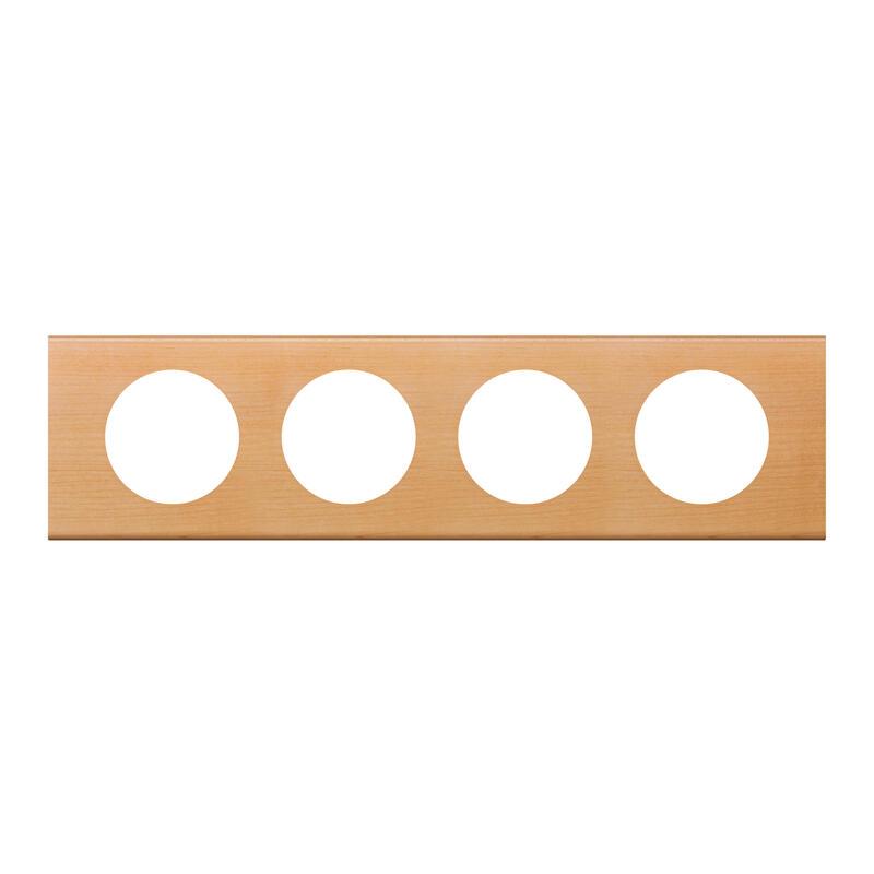 Plaque de finition Céliane - Matière Erable - 4 postes