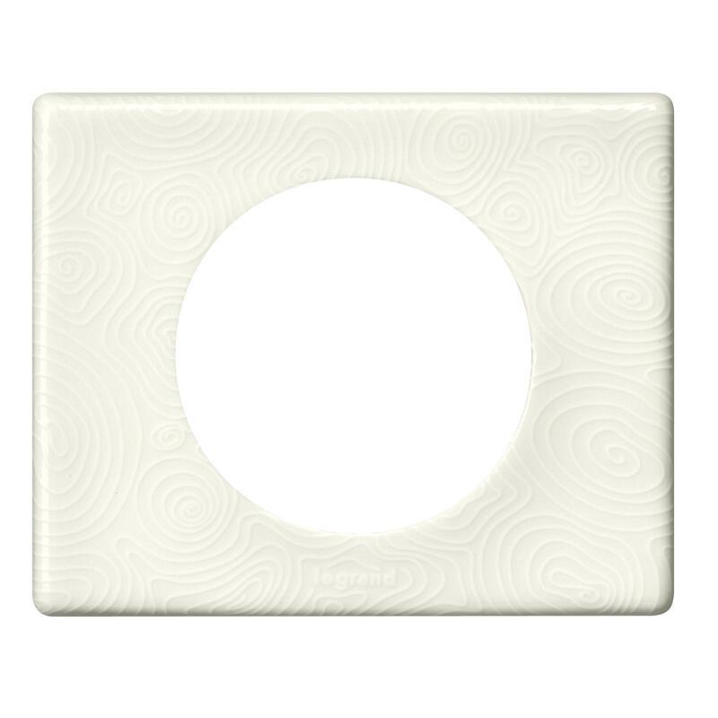 Plaque de finition Céliane - Matière Songe (porcelaine) - 1 poste