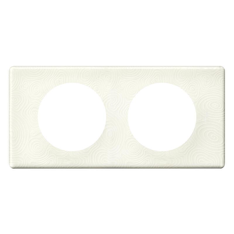 Plaque de finition Céliane - Matière Songe (porcelaine) - 2 postes
