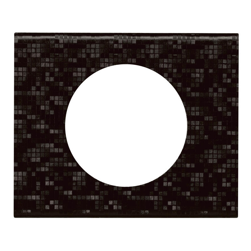 Plaque Céliane Matières 1 poste - finition Cuir Pixel