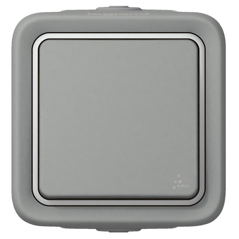 Poussoir Plexo apparent - Gris