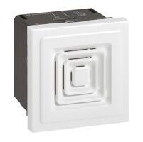 Sonnerie à timbre électronique 80dB à 1m Mosaic 2 modules tension 12V= , 24V= ou 48V= - blanc