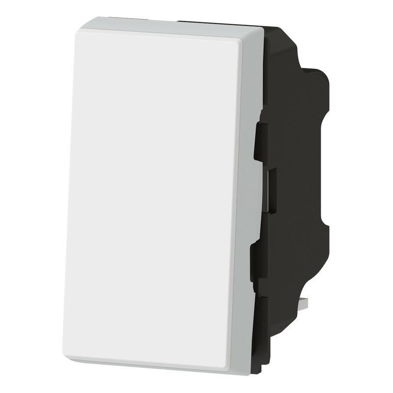 Interrupteur ou va-et-vient 10AX 250V~ Mosaic Easy-Led 1 module - blanc