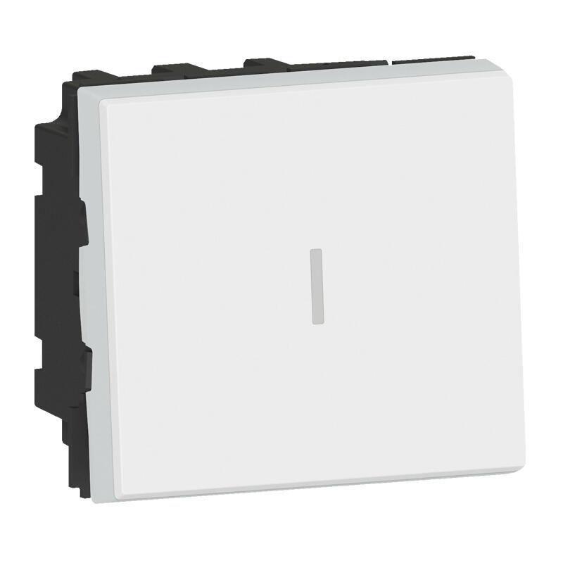 Permutateur 10AX 250V~ Mosaic 2 modules - blanc