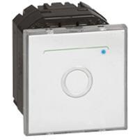 Interrupteur avec neutre à commande tactile Mosaic 2 modules - blanc antimicrobien