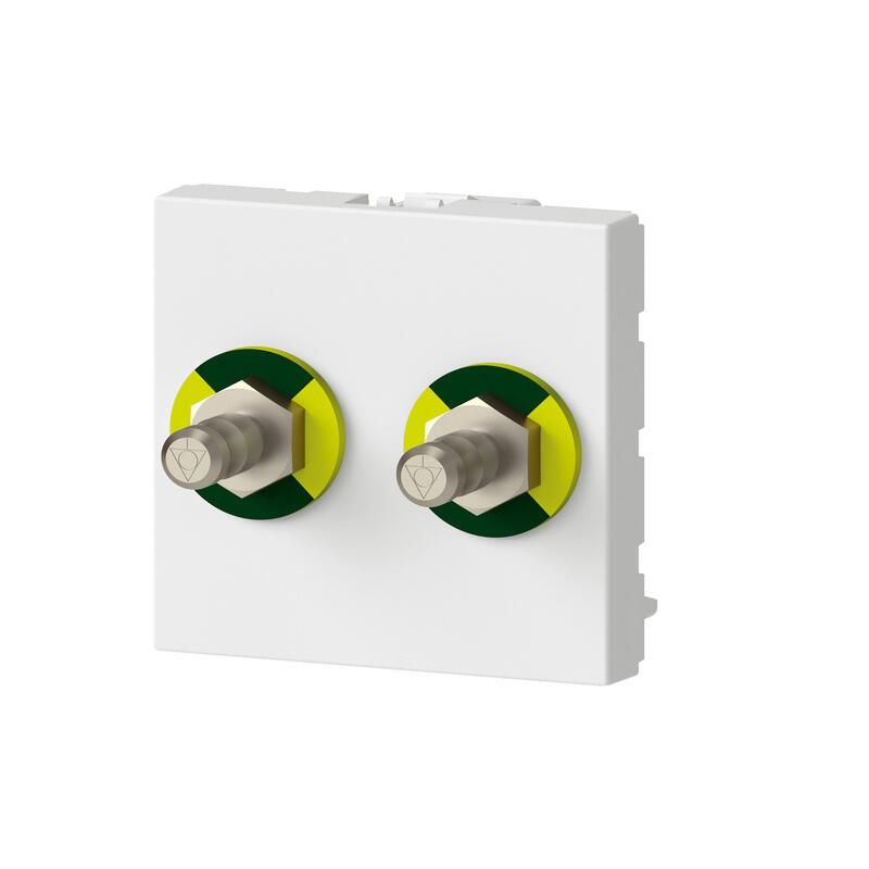 Prise équipotentielle Mosaic 2 modules - blanc antimicrobien