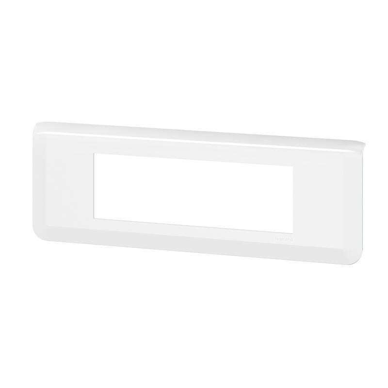 Plaque de finition horizontale Mosaic pour 6 modules blanc