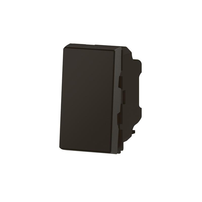 Interrupteur ou va-et-vient 10AX 250V~ Mosaic Easy-Led 1 module - noir mat