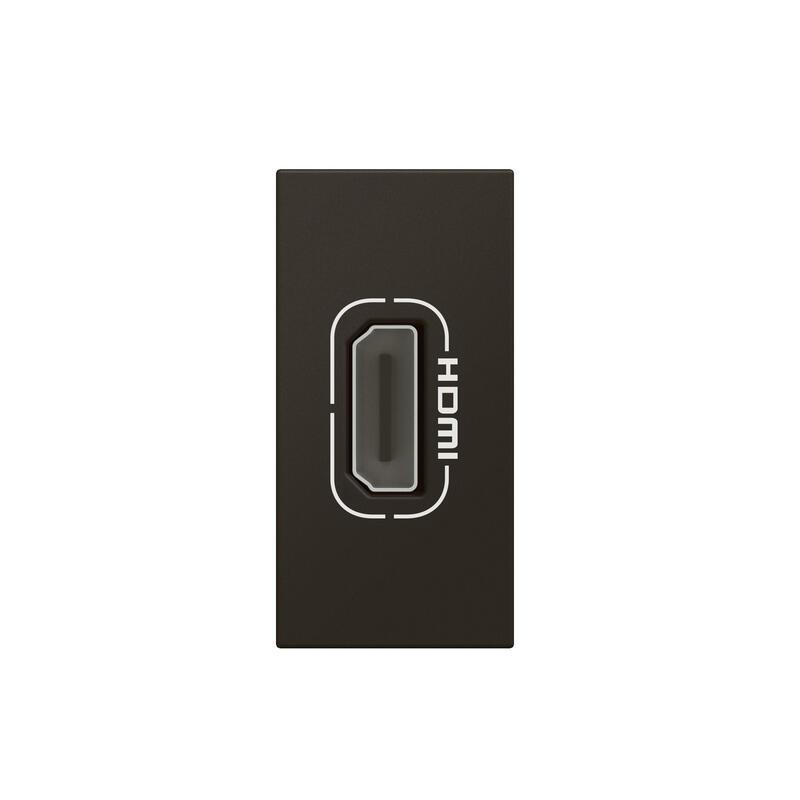 Prise HDMI Type-A version 2.0 préconnectorisée Mosaic 1 module - noir mat
