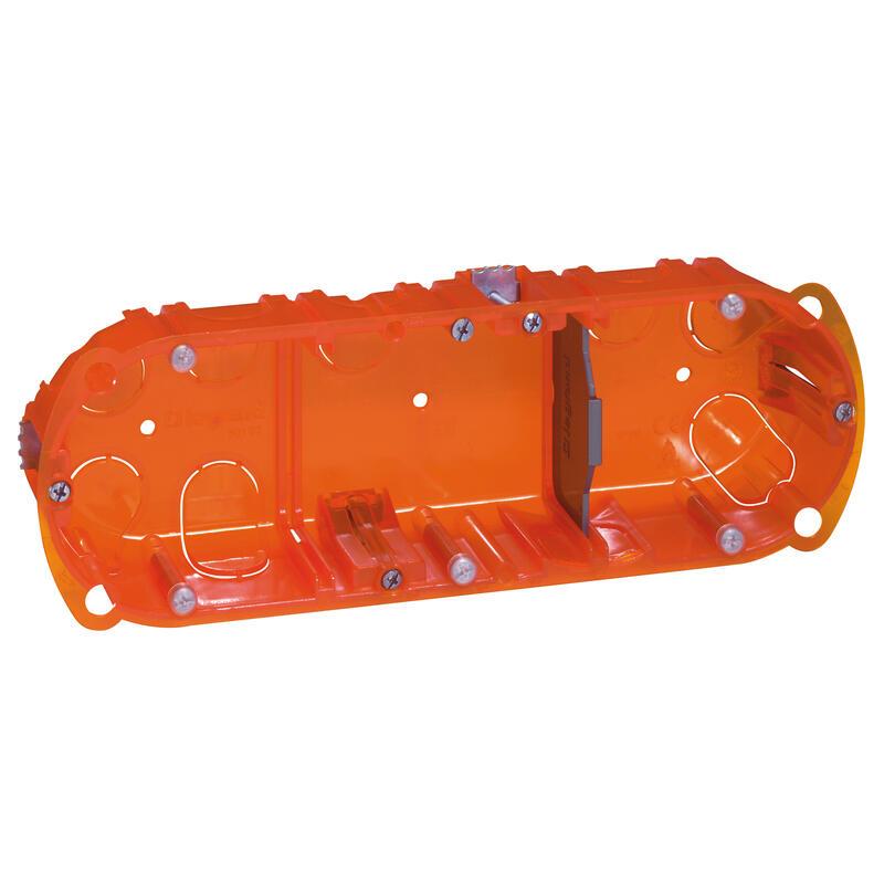 Boîte multimatériaux Batibox 3 postes 6 à 8 modules montage vertical ou horizontal - profondeur 40mm