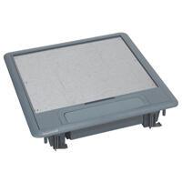 Boîte de sol hauteur réduite 50mm pour plancher technique ou chape béton avec couvercle