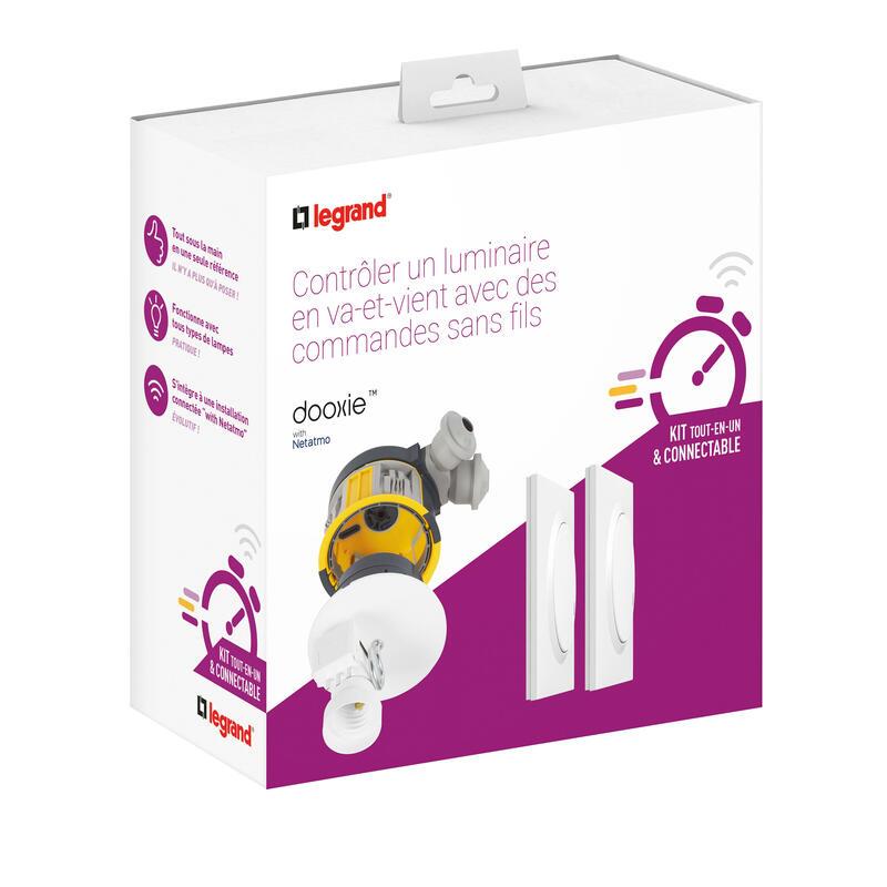 Kit avec 1 DCL radio complet + 2 commandes dooxie sans fils - blanc