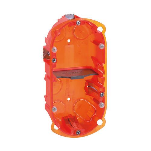 Boîte à encastrer Batibox multimatériaux - 2 postes profondeur 40mm