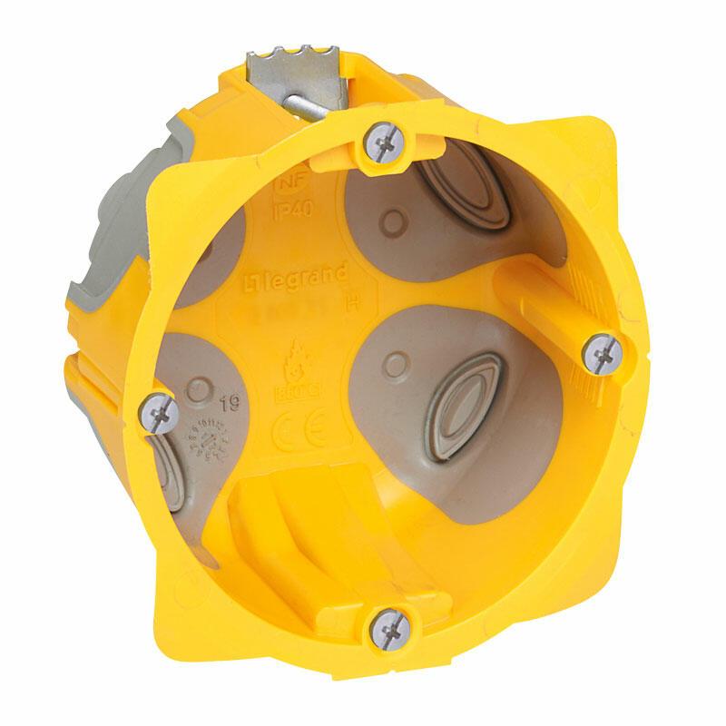 Boîte à encastrer Ecobatibox profondeur 40mm pour plaque de plâtre - 1 poste