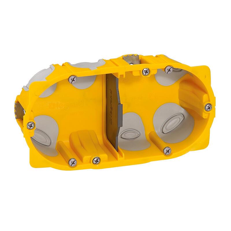 Boîte à encastrer Ecobatibox profondeur 40mm pour plaque de plâtre - 2 postes