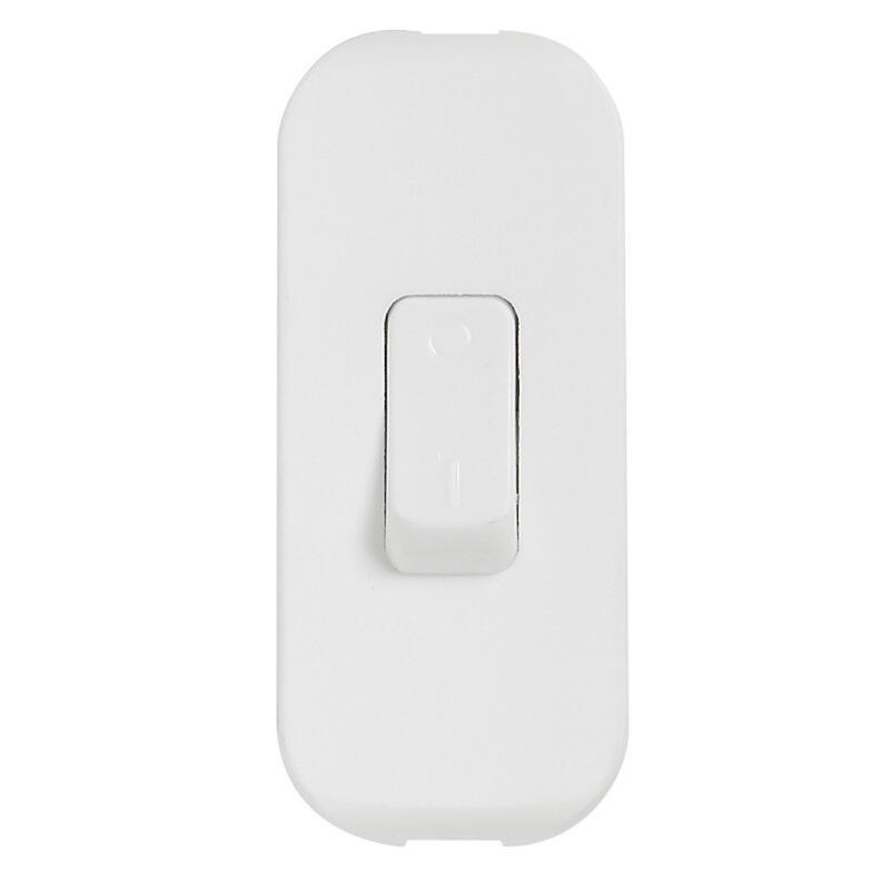 Interrupteur à bascule pour lampe - bipolaire - blanc