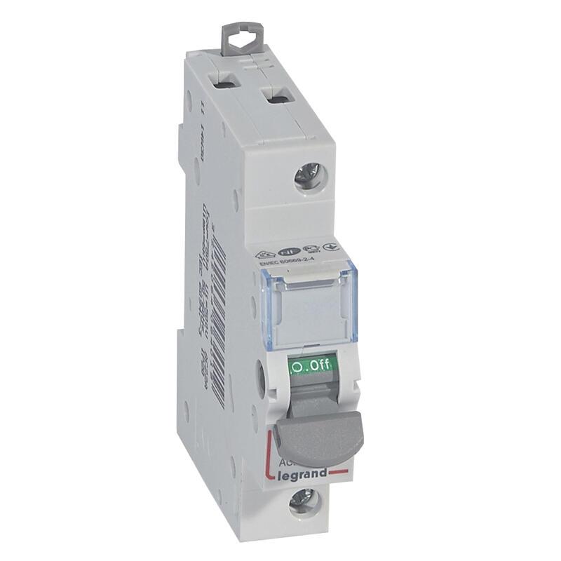 Interrupteur - unipolaire - 20A - 230V à 400V - 1 module