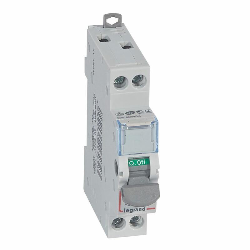 Interrupteur bipolaire - 20A - 400V - 1 module