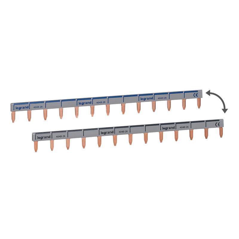 Peigne d'alimentation horizontale - pour Uni et Uni + neutre - 13 modules