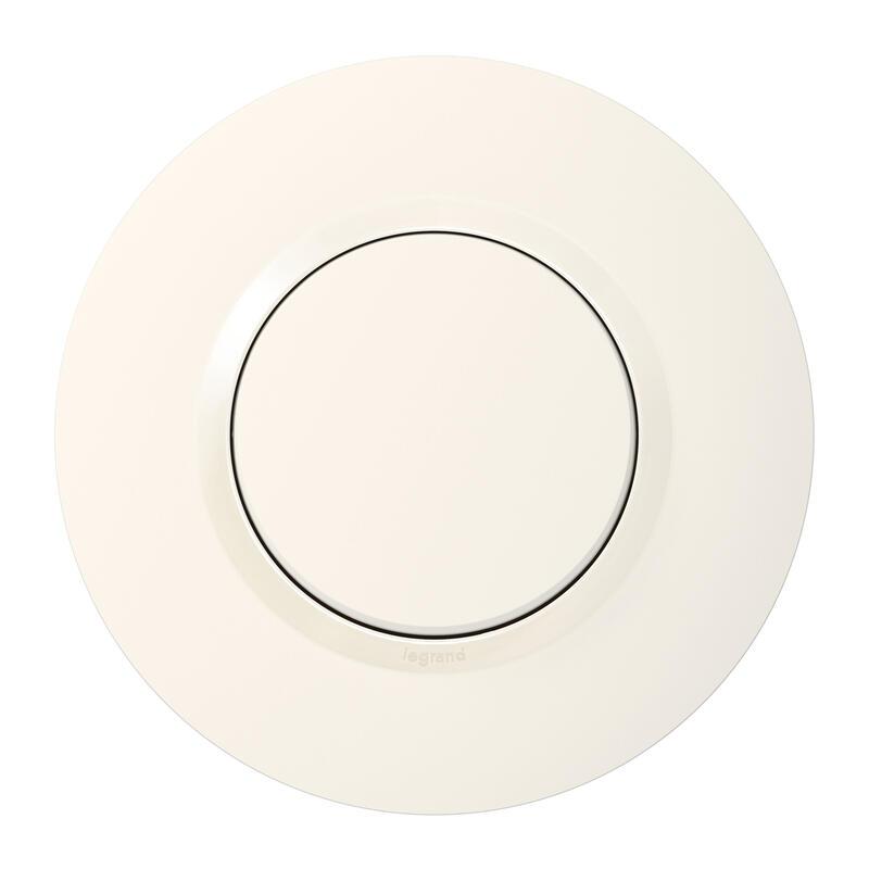 Interrupteur ou va-et-vient dooxie 10AX 250V~ livré avec plaque ronde blanche
