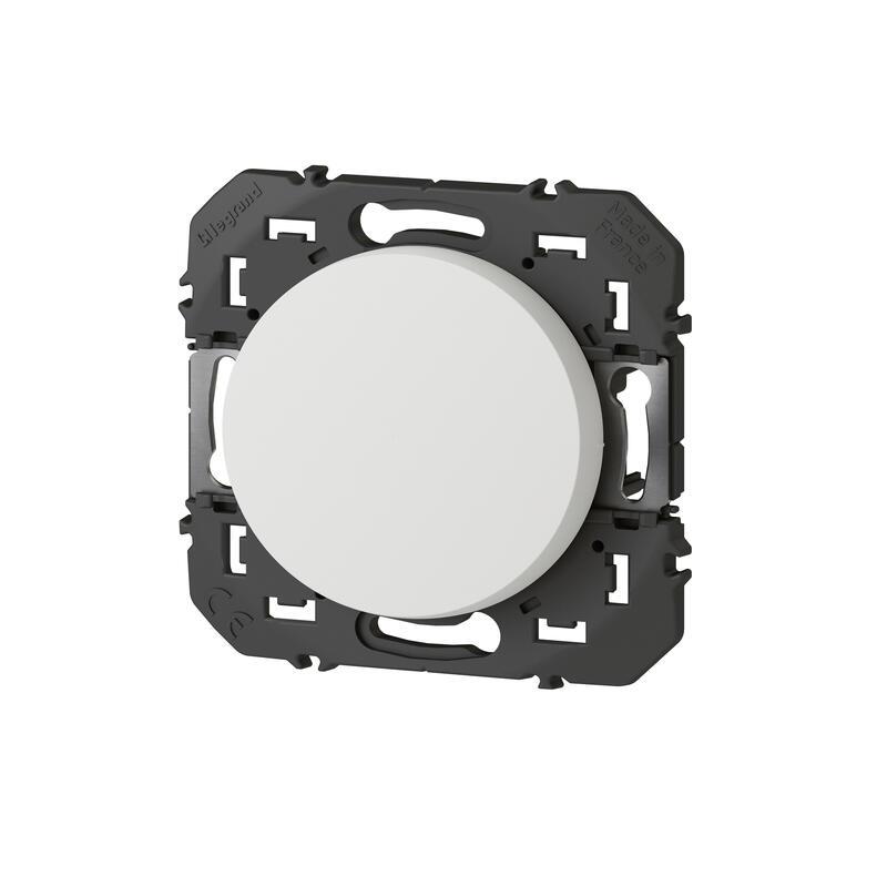 Interrupteur ou va-et-vient dooxie 10AX 250V~ finition blanc - emballage blister