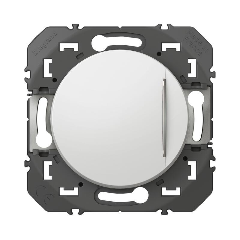 Interrupteur ou va-et-vient avec voyant lumineux dooxie 10AX 250V~ - finition blanc