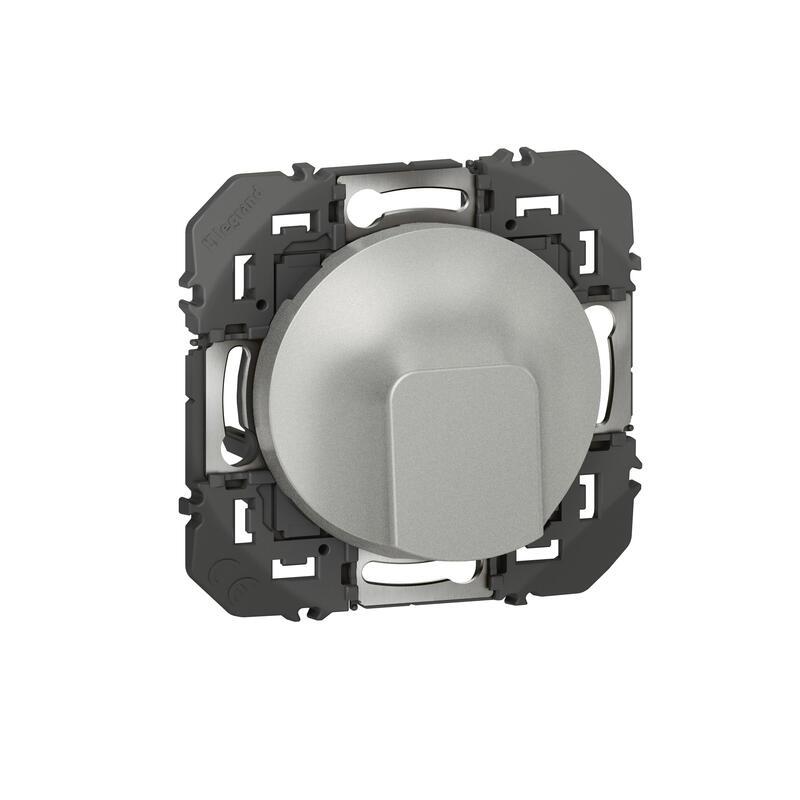 Sortie de câble standard dooxie finition alu - emballage blister