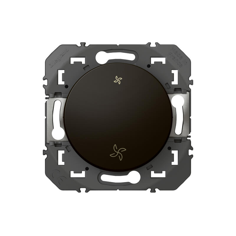 Interrupteur commande VMC dooxie finition noir - emballage blister