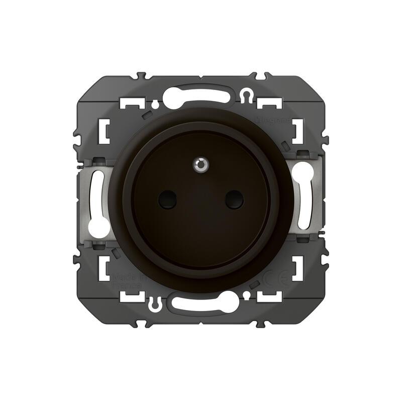 Prise de courant easyréno 2P+T faible profondeur dooxie 16A finition noir - emballage blister