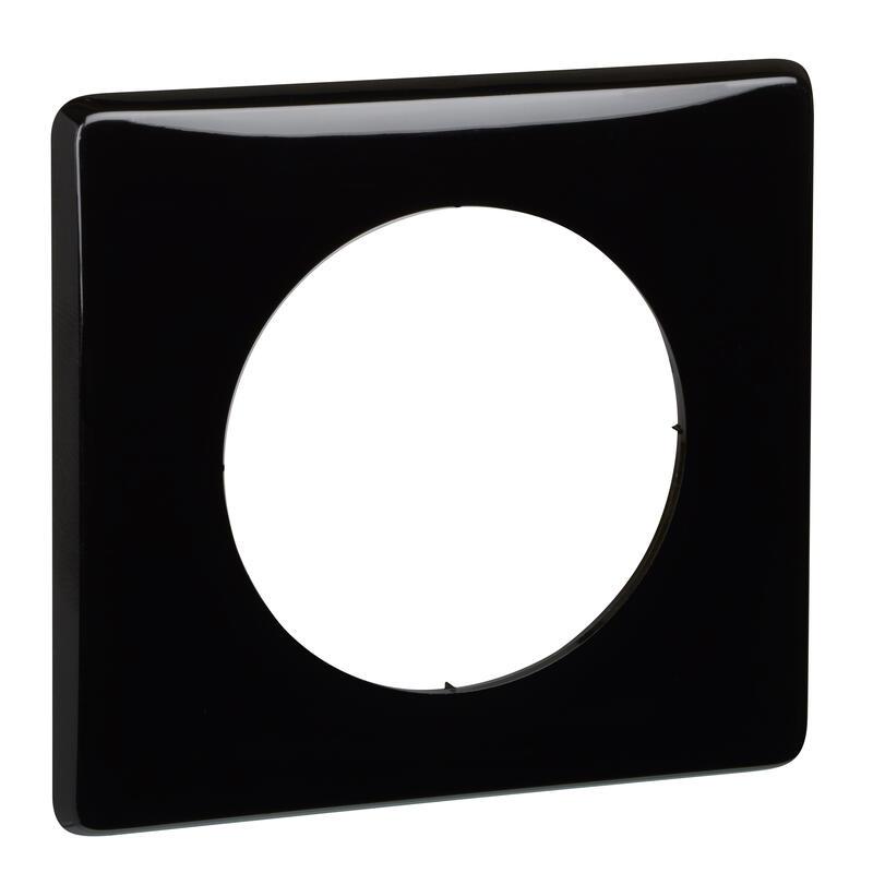 Plaque Céliane - Laqué Noir - 1 poste
