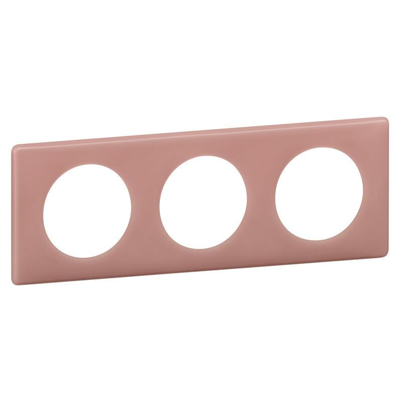 Plaque Céliane - Poudré Vieux rose - 3 postes