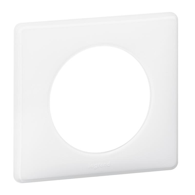 Plaque de finition Céliane - Laqué Blanc - 1 poste