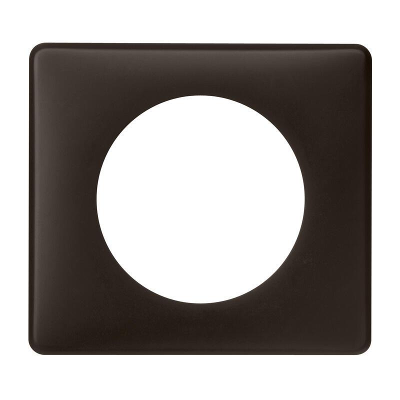 Plaque de finition Céliane - Poudré Basalte - 1 poste