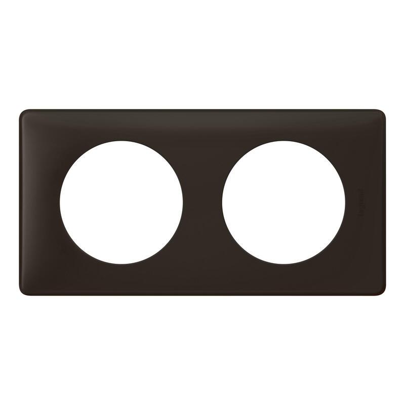 Plaque Céliane - Poudré Basalte - 2 postes