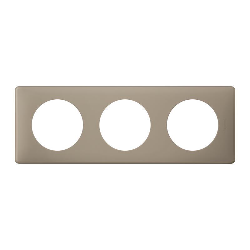 Plaque Céliane - Poudré Grès - 3 postes