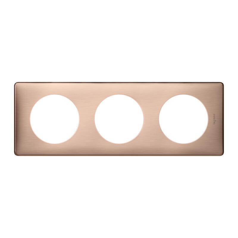 Plaque Céliane - Métal Copper - 3 postes