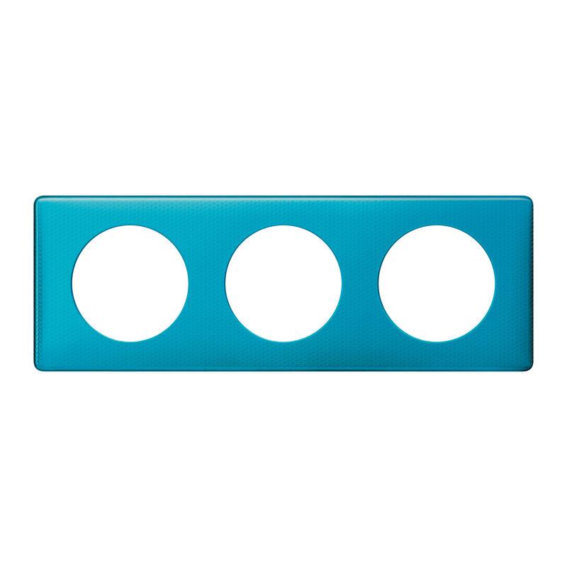 Plaque Céliane - Métal Blue Snake - 3 postes