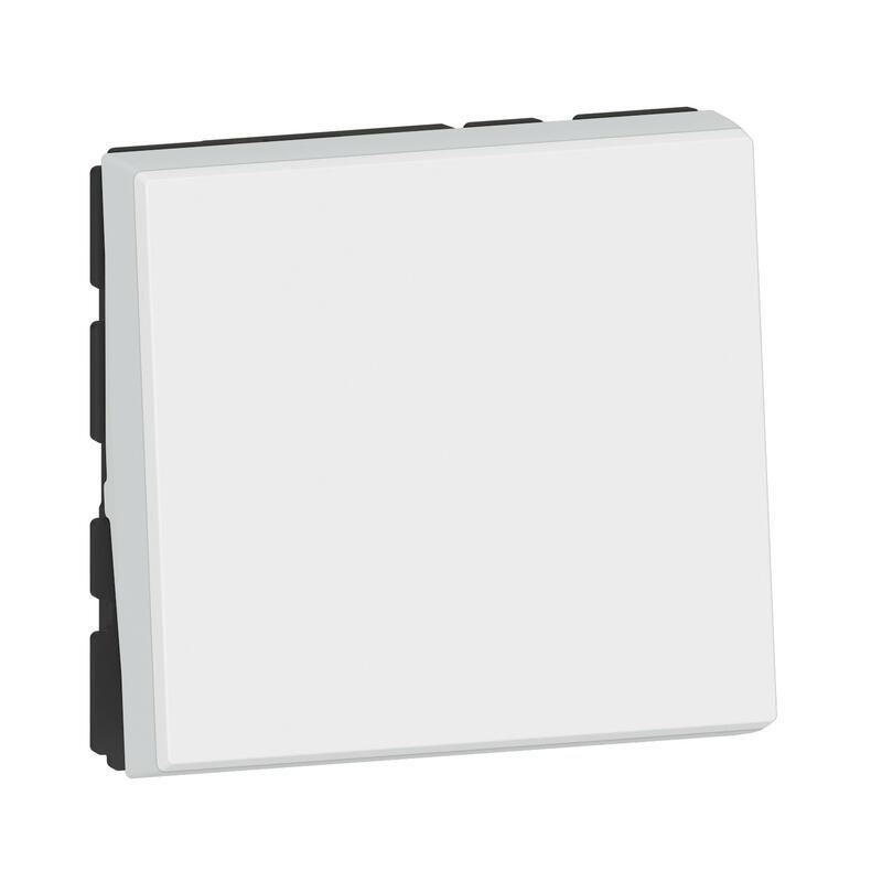 Interrupteur ou va-et-vient Mosaic Easy-Led 10A 2 modules - blanc