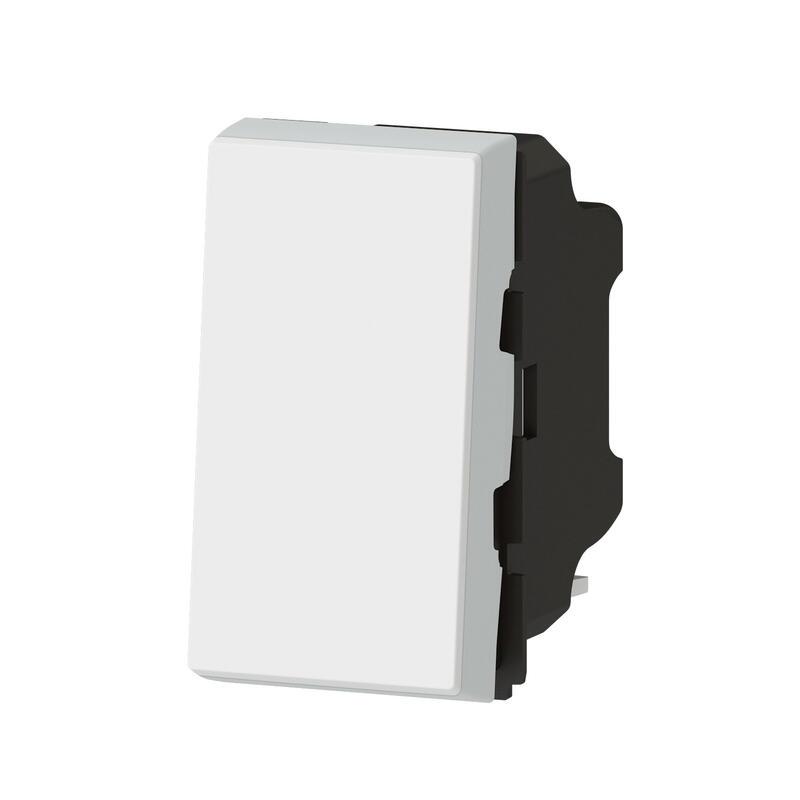 Poussoir Mosaic Easy-Led 6A 1 module - blanc