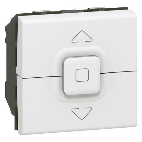 Interrupteur individuel de volets roulants Mosaic 2 modules - blanc