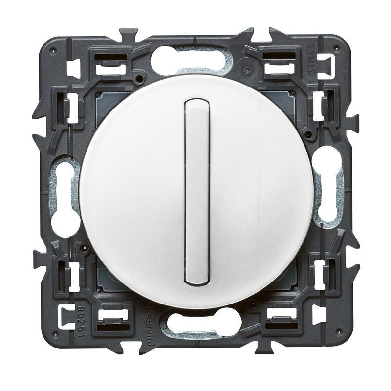 Interrupteur ou va-et-vient doigt étroit Céliane Soft - 10A - Blanc