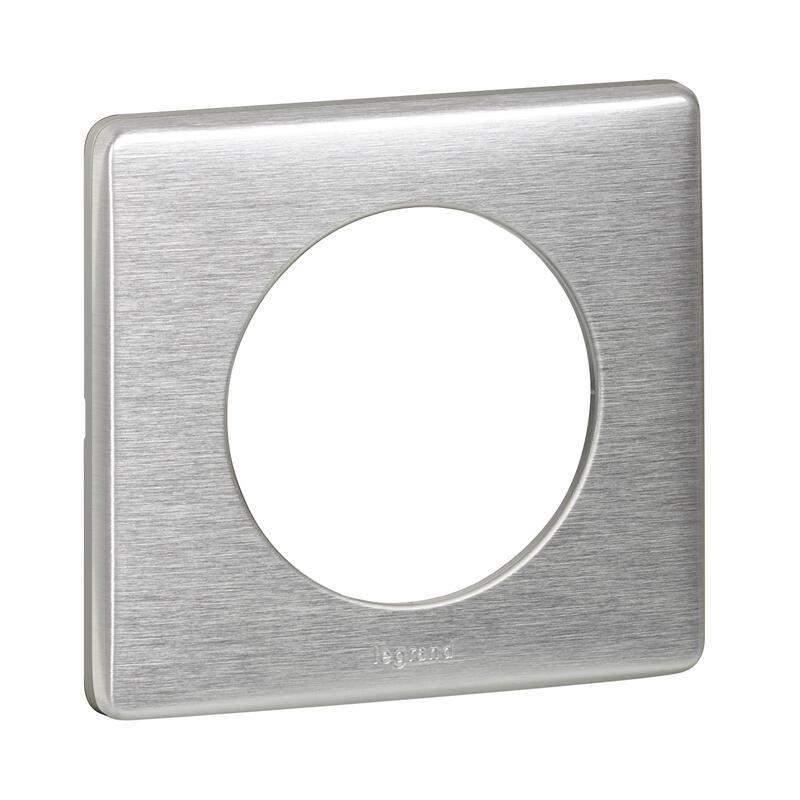 Plaque de finition Céliane - Métal Aluminium - 1 poste
