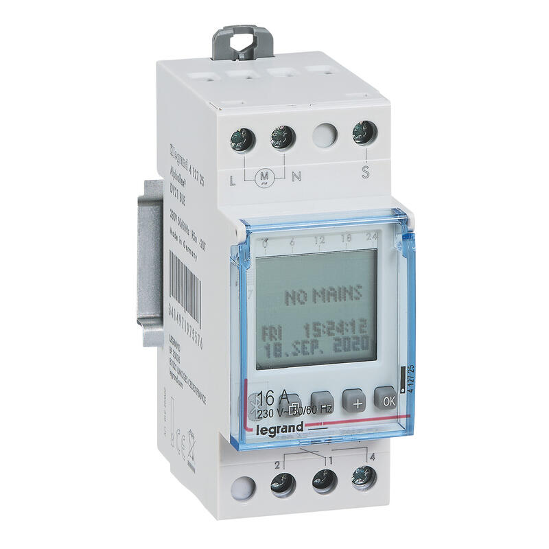 Inter horaire programmable via bluetooth annuel 230V~ - 1 sortie 16A - 56 programmes