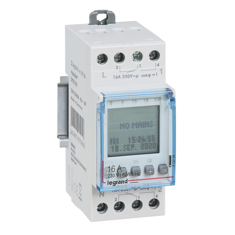Inter horaire programmable via bluetooth annuel 230V~ - 2 sorties 16A - 2x28 programmes
